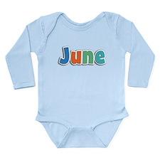 June Spring11B Long Sleeve Infant Bodysuit