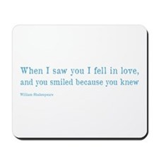 Shakespeare on Love (Hamlet) Mousepad
