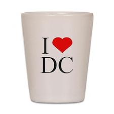 I Love DC Shot Glass