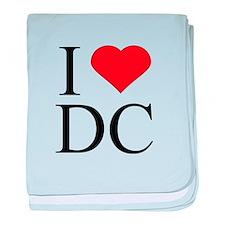 I Love DC baby blanket