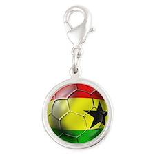 Ghana Football Silver Round Charm