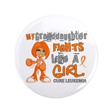"Fights Like a Girl 42.9 Leukemia 3.5"" Button"