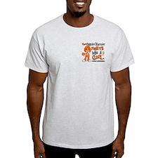 Fights Like a Girl 42.9 Leukemia T-Shirt
