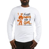 Fights Like a Girl 42.9 Leukemia Long Sleeve T-Shi