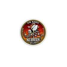 US Navy Seabees Gold Lava Glow Mini Button (10 pac