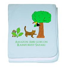 Rainforest Safari baby blanket
