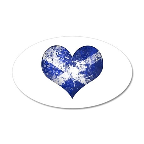 Scottish heart 20x12 Oval Wall Decal