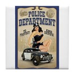 Police Department Tile Coaster