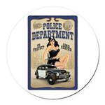 Police Department Round Car Magnet
