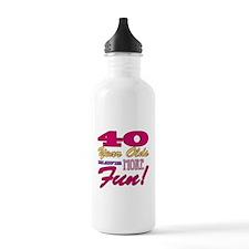 Fun 40th Birthday Gifts Water Bottle