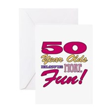 Fun 50th Birthday Gifts Greeting Card