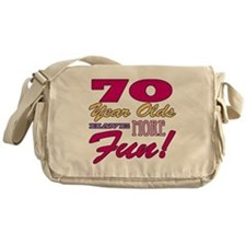 Fun 70th Birthday Gifts Messenger Bag