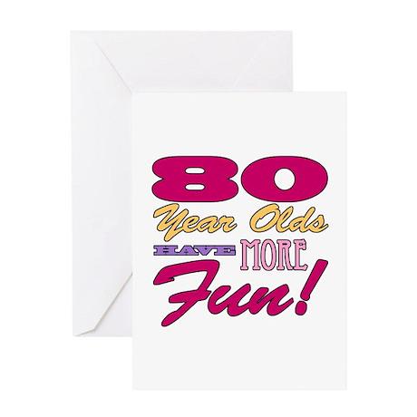 Fun 80th Birthday Gifts Greeting Card