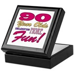 Fun 90th Birthday Gifts Keepsake Box