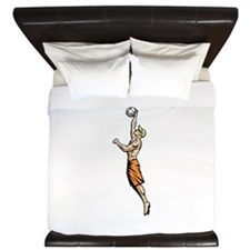 Beach Volleyball Player King Duvet