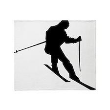 Downhill Skier Throw Blanket