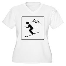 Skiing Sign T-Shirt