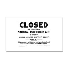 Prohibition Sign Car Magnet 20 x 12