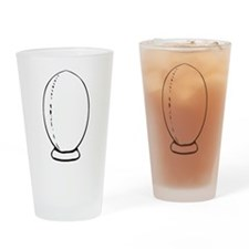 Rugby Ball On Tee Drinking Glass