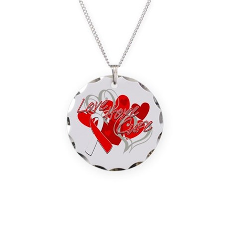 MDS Love Hope Cure Necklace Circle Charm