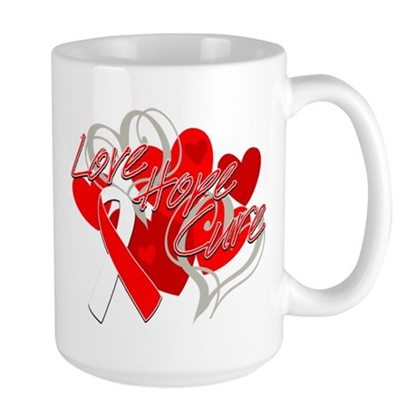 MDS Love Hope Cure Large Mug
