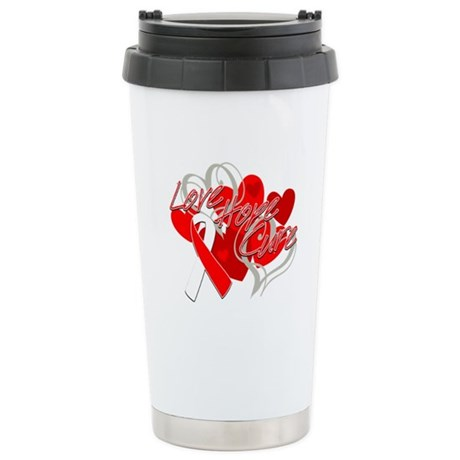 MDS Love Hope Cure Ceramic Travel Mug