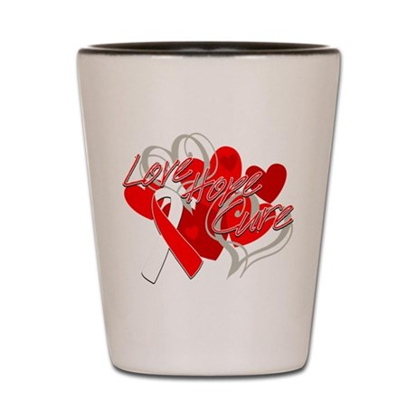 MDS Love Hope Cure Shot Glass
