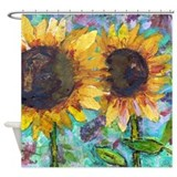 Sunflower Friends Shower Curtain