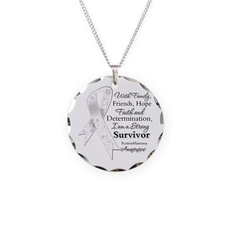 Retinoblastoma StrongSurvivor Necklace Circle Char