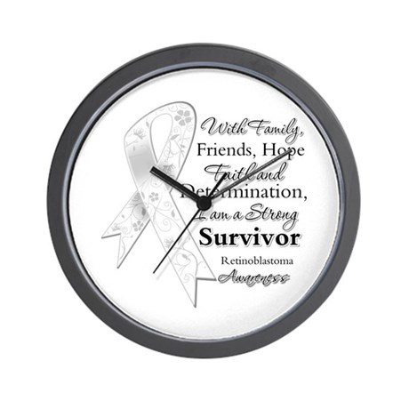 Retinoblastoma StrongSurvivor Wall Clock