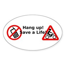 Hang up! Save a Motorcyclist! Decal