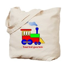 Personalize Choo Choo Train Engine Tote Bag
