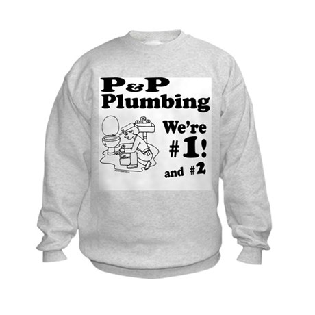 P P Plumbing Kids Sweatshirt
