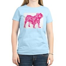 Old English Bulldog Women's Pink T-Shirt