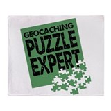 Geocaching Puzzle Expert Throw Blanket