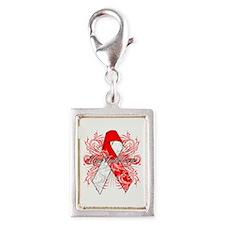 Hope Faith Cure MDS Silver Portrait Charm