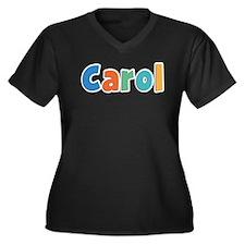 Carol Spring11B Women's Plus Size V-Neck Dark T-Sh