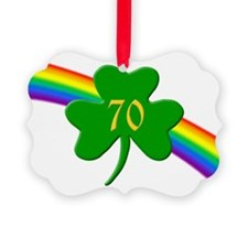 Rainbow Shamrock 70 Ornament