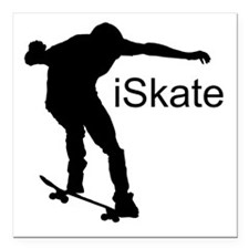"iSkate Square Car Magnet 3"" x 3"""