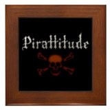Pirate Attitude Pirattitude Framed Tile