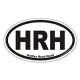 HRH Halifax Road Head Euro Oval Decal