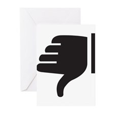Thumbs Down Greeting Cards (Pk of 20)
