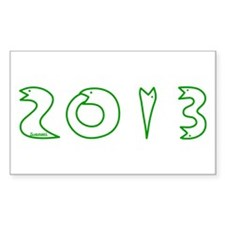 2013 Snake Year Sticker (Rectangle)