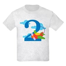 2nd Birthday Airplane T-Shirt