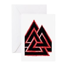 Valknut (red) Greeting Cards (Pk of 20)