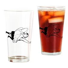 Wrestling Pin Drinking Glass