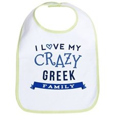 I Love My Crazy Greek Family Bib