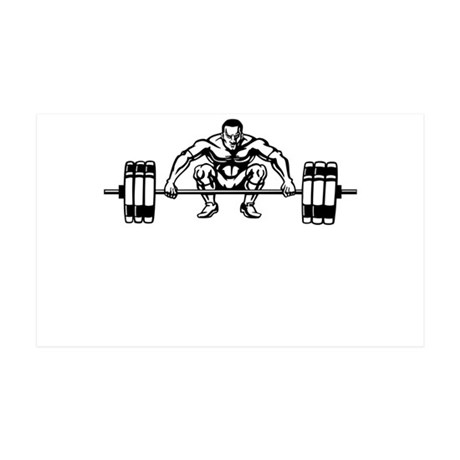 Power Lifting 35x21 Wall Decal