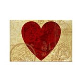 Clockwork Heart Rectangle Magnet
