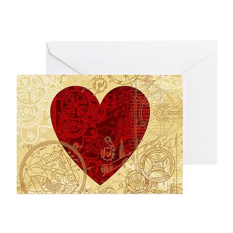 Clockwork Heart Greeting Cards (Pk of 20)